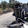 Incidente sulla Molfetta-Terlizzi, auto capovolte: due feriti
