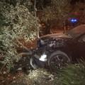 Rubano un'auto, ma finiscono fuori strada: ladri in fuga a Molfetta