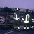 Spettacolare incidente sulla 16 bis alle prime luci del giorno