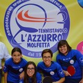 """Tennistavolo, per le ragazze de  """"L'Azzurro """" trasferta insidiosa a Vasto"""