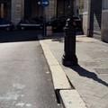 Marciapiede sconnesso in piazza Vittorio Emanuele