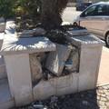 Prima la grandinata, poi i vandali: in frantumi parte della piazzetta di Rione Madonna dei Martiri