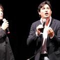 Emilio Solfrizzi e Antonio Stornaiolo insieme sul palco dell'anfiteatro di Ponente di Molfetta