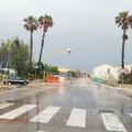 Interdetta la deviazione verso la Prima Cala per la forte pioggia a Molfetta
