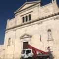 Iniziate stamattina le operazioni di montaggio delle luminarie in Basilica