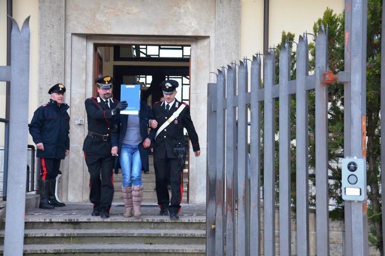 L'arresto operato dai Carabinieri