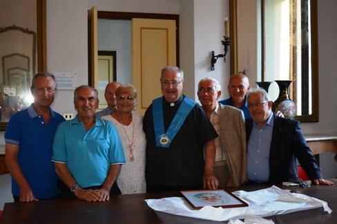 Don Giuseppe De Candia socio onorario dei Molfettesi nel Mondo. <span>Foto Isabella de Pinto</span>
