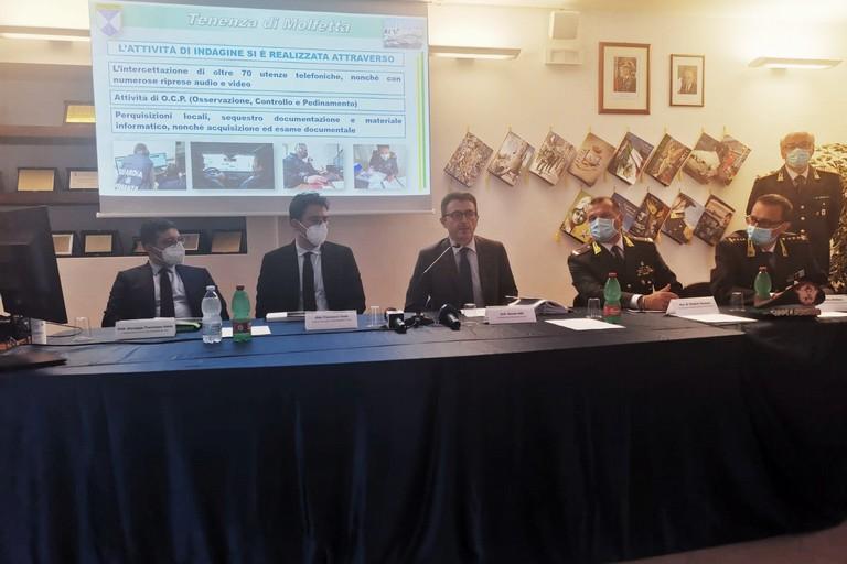 La conferenza stampa a Barletta
