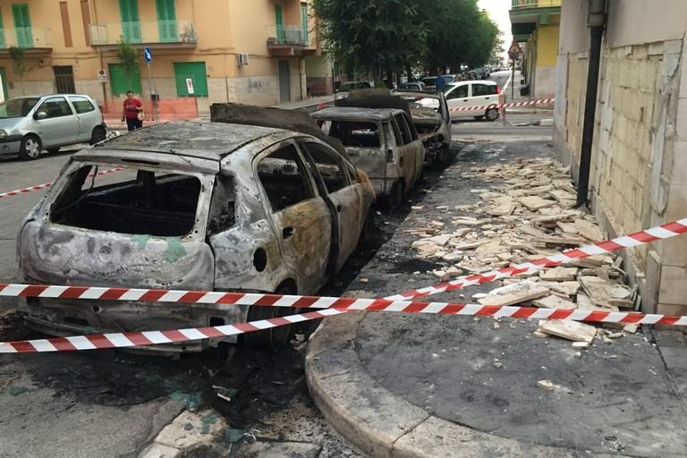 L'incendio avvenuto in via Zuppetta
