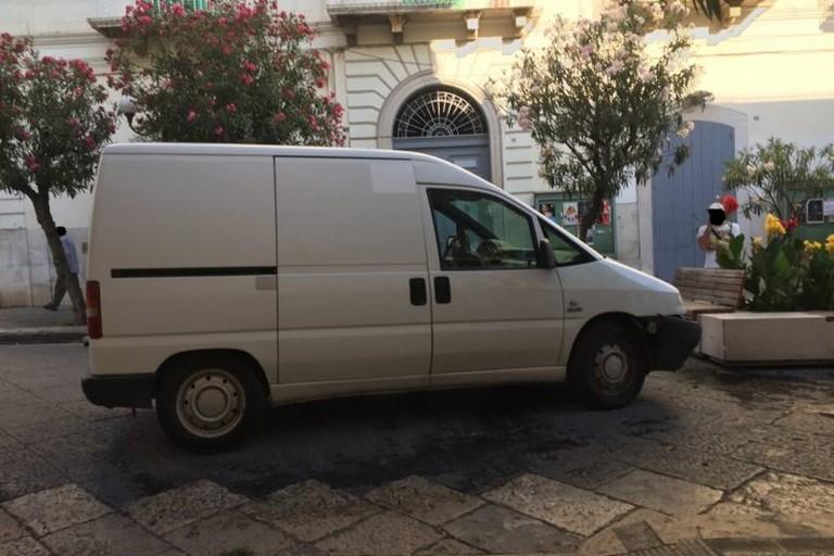 Il Fiat Scudo rubato questa mattina a Molfetta