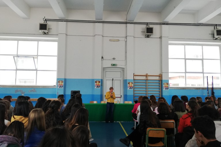 Fiammetta Borsellino al Liceo Classico