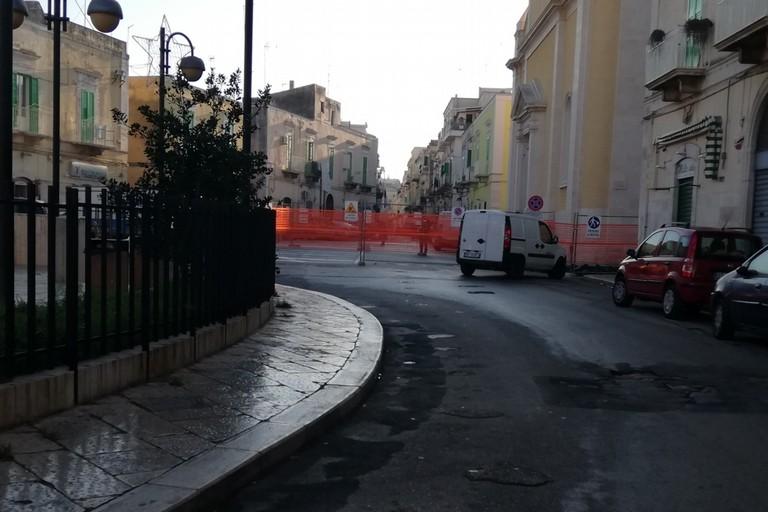 Lavori a Piazza Immacolata