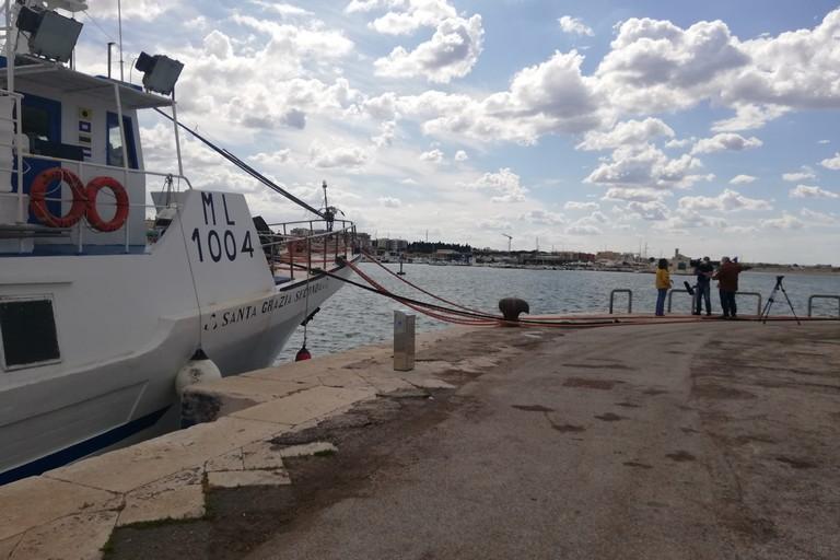 Canale 5 sul porto di Molfetta