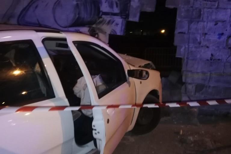 L'incidente stradale avvenuto in via Nisio