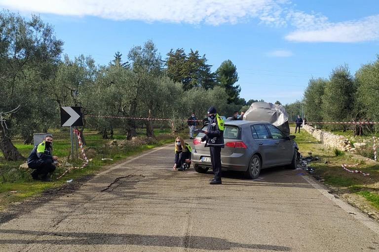 L'incidente stradale avvenuto sulla strada provinciale 56