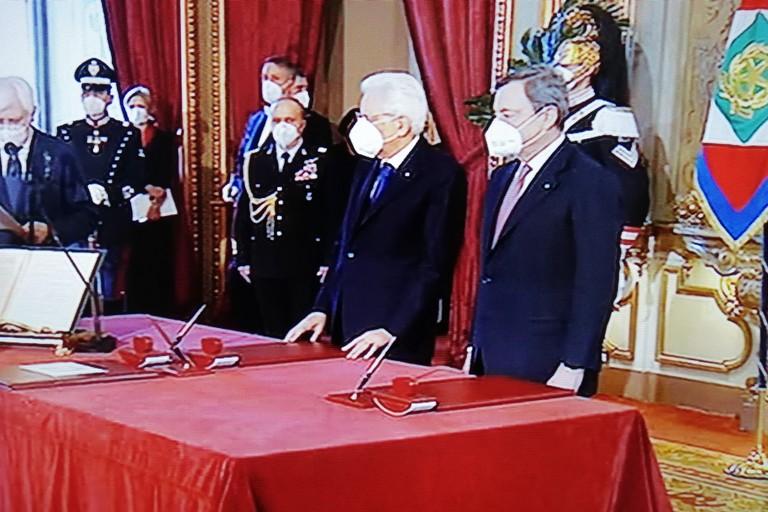 Il Presidente Mattarella e il Presidente Draghi