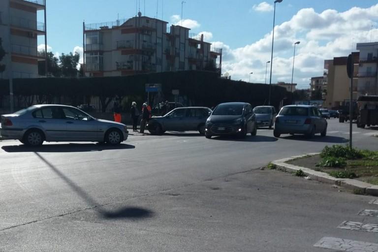 L'incidente stradale avvenuto in via Salvemini