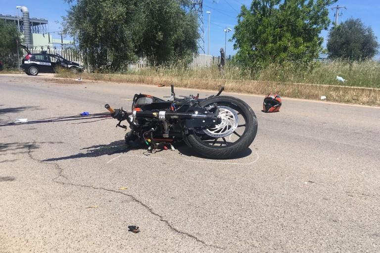 L'incidente stradale avvenuto sulla strada provinciale 55
