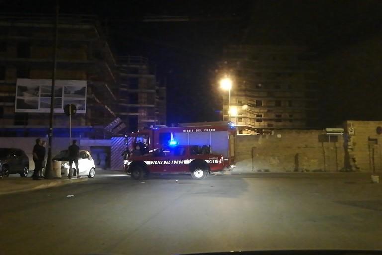 Vigili del fuoco intervenuti
