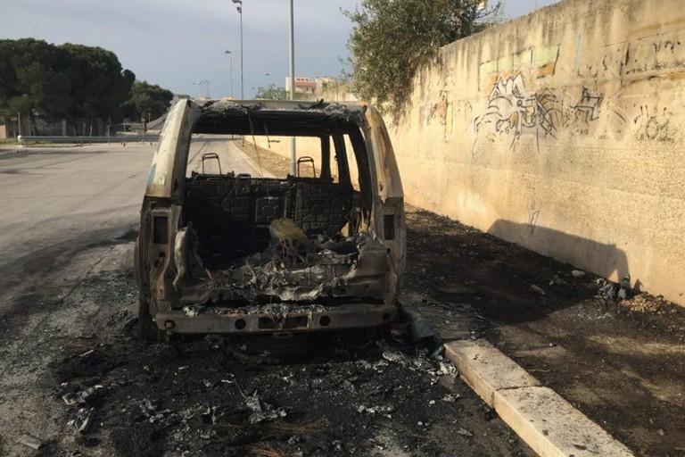Uno degli ultimi incendi avvenuti a Molfetta