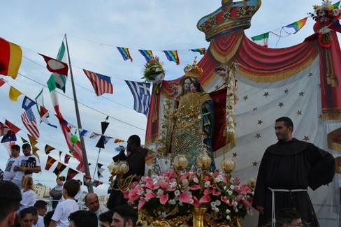 Madonna dei Martiri 2016 la processione a mare. <span>Foto Isabella de Pinto</span>