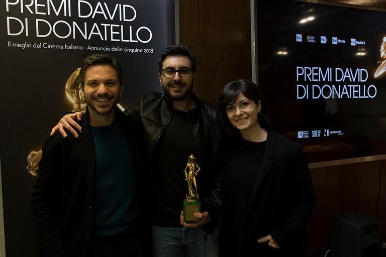 Mastromauro e il David di Donatello. <span>Foto Peppe di Caro</span>