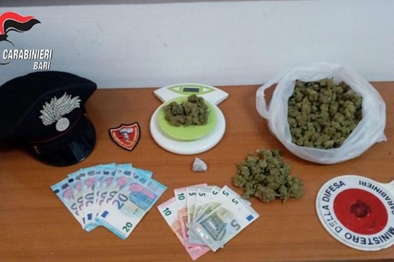 La droga sequestrata dai Carabinieri