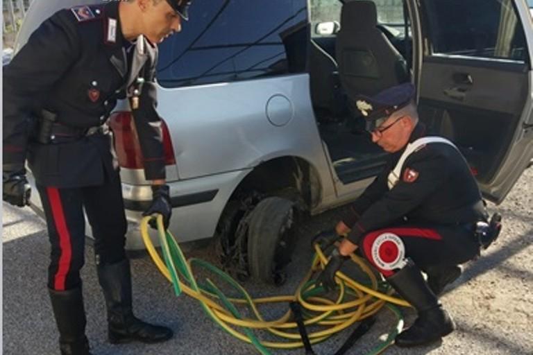 I cavi di rame recuperati dai Carabinieri