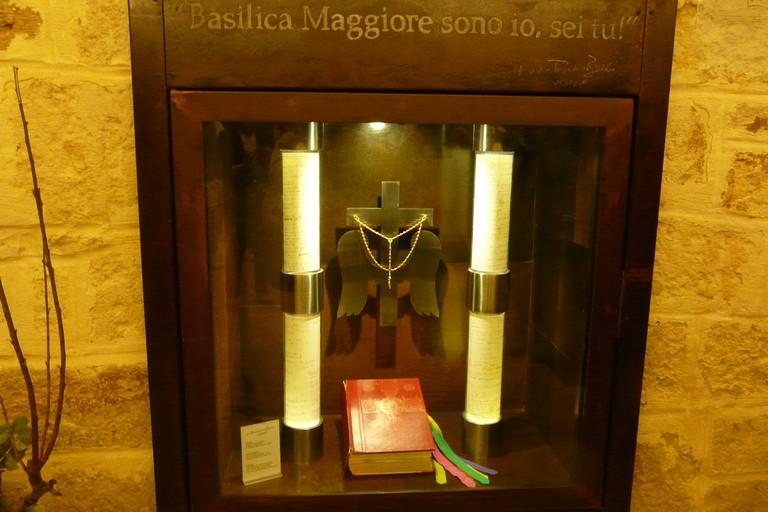 Una teca dedicata a don Tonino nel cuore della Basilica della Madonna dei Martiri