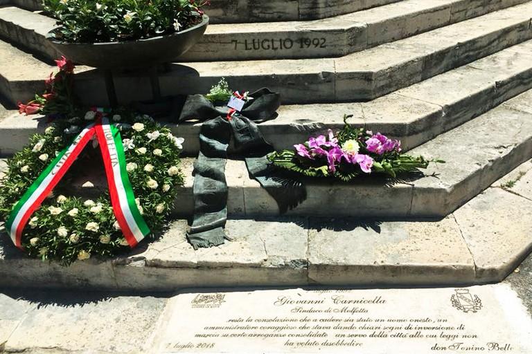 Pietra dinciampo in ricordo di Gianni Carnicella