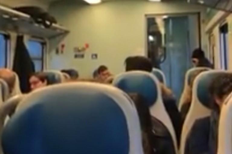 Pioggia sul treno