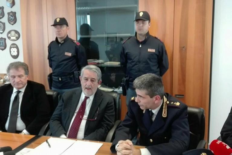 La conferenza stampa della Polizia di Stato