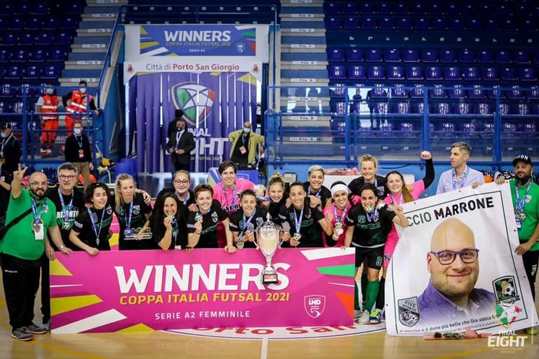 Rebecca Pati e il Bitonto. <span>Foto Divisione Calcio a 5 - Final Eight</span>