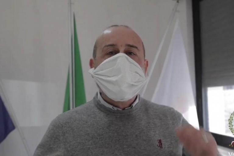 Ottavio Balducci con la mascherina