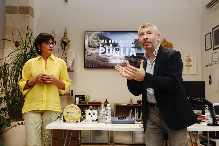 Titti Cinone con Ivan Scalfarotto