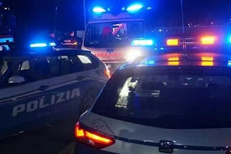 L'arrivo del 118 e della Polizia Stradale