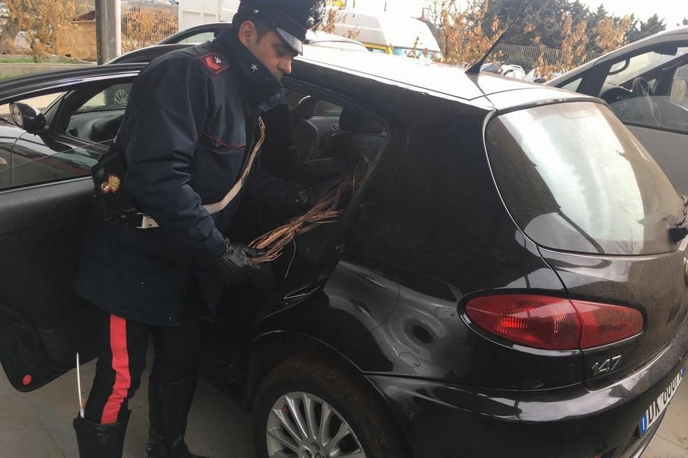 Tentato furto di rame con due auto rubate a Molfetta